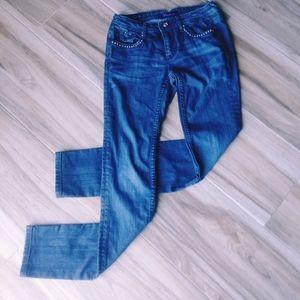 Sz 27 Vigoss Bling Encrusted Skinny Fit Jeans